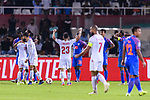 Jamal Rashed Abdulrahman of Bahrain (C) celebrates scoring the team's only goal during the AFC Asian Cup UAE 2019 Group A match between India (IND) and Bahrain (BHR) at Sharjah Stadium on 14 January 2019 in Sharjah, United Arab Emirates. Photo by Marcio Rodrigo Machado / Power Sport Images