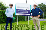 Cllr's Mike Kennelly and Jimmy Moloney at the entrance to the Listowel Business Park in  Clieveragh Listowel on Monday and they are concerned over the industrial future in Listowel as the IDA offload commercial land.