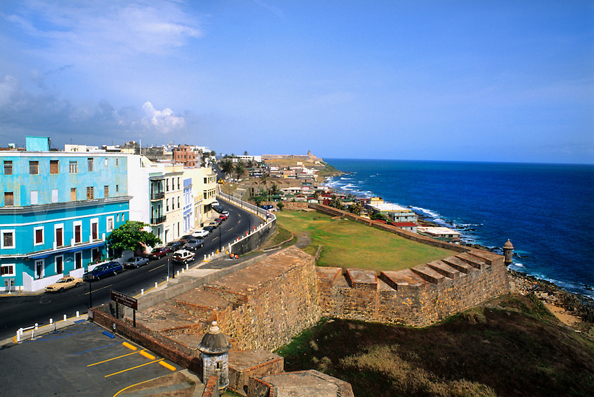 Famous El Morro Castle and historical fort in Old San Juan Puerto Rico USA