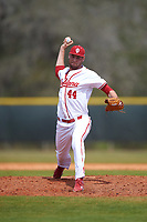 Indiana Hoosiers relief pitcher Jake Kelzer (44) delivers a pitch during a game against the Seton Hall Pirates on March 5, 2016 at North Charlotte Regional Park in Port Charlotte, Florida.  Seton Hall defeated Indiana 6-4.  (Mike Janes/Four Seam Images)