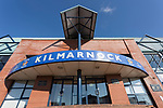 The main entrance to Rugby Park. Kilmarnock 2 Ayr United 0, Scottish Championship, August 2nd 2021. Following Kilmarnock's relegation in 2020-21, the first game of the new season is the Ayreshire Derby, the first league match between the teams in 28 years. Due to relaxation of Covid restrictions the match was played in front of a crowd of 3200 Kilmarnock fans. The game was shown live on BBC Scotland.