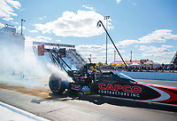 Oct 4, 2020; Madison, Illinois, USA; NHRA top fuel driver Billy Torrence during the Midwest Nationals at World Wide Technology Raceway. Mandatory Credit: Mark J. Rebilas-USA TODAY Sports