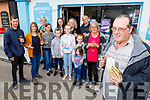 Pat Kelliher from Abbeyfeale standing with his family at Kathleen's Foodstore in Abbeyfeale as Pat won €60,000 in Telly Bingo gameshow and brought the winning ticket at Kathleen's shop.<br /> Front right: Pat Kelliher.<br /> Back l to r: Michael Murphy, Catherine McCarthy, Geraldine and Jack Murphy, Darragh McCarthy, Lydia, Evonne, Abigail and Marty Murphy, Alyssa McCarthy, Ellie Mulane and Geraldine Murphy.