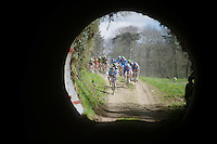 chasing peloton entering the tunnel<br /> <br /> 33th Tro Bro Léon 2016