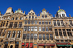 Belgium, Province Brabant, Brussels: Guildhouses around the Grand-Place (main square) | Belgien, Provinz Brabant, Bruessel: Zunfthaeuser auf dem Grand Place (Grote Markt)