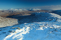 The Mamores and Blackwater Reservoir from Stob Mhic Mhartuin above Glencoe, Highland<br /> <br /> Copyright www.scottishhorizons.co.uk/Keith Fergus 2011 All Rights Reserved