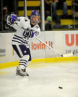 29 December 2007: Holy Cross Crusaders' defenseman Mark Znutas, a Freshman from Emerson, NJ, in action against the University of Vermont Catamounts at Gutterson Fieldhouse in Burlington, Vermont. The Catamounts rallied in the final seconds of play to tie the game 1-1. After overtime, although the official result remained a tie game, the Cats moved up to the championship round by winning a sudden death shootout in the second game of the Sheraton/TD Banknorth Catamount Cup Tournament...Mandatory Photo Credit: Ed Wolfstein Photo