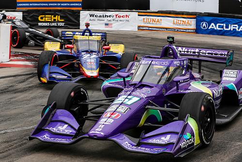 #51: Romain Grosjean, Dale Coyne Racing with RWR Honda, #27: Alexander Rossi, Andretti Autosport Honda