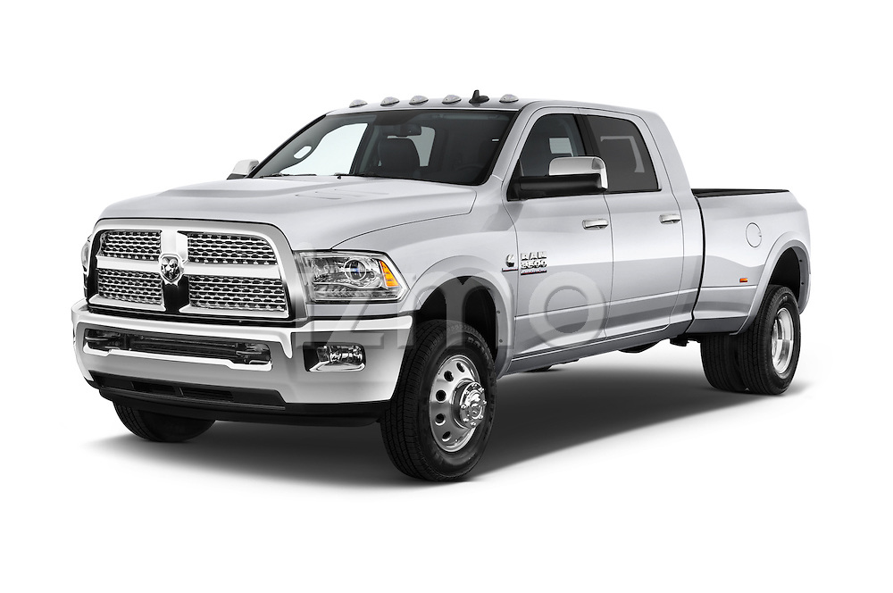 2017 Ram 3500 Laramie 4 Door Van angular front stock photos of front three quarter view