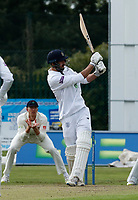 21st September 2021; Aigburth, Merseyside, England; County Championship Cricket, Lancashire versus Hampshire, Day 1; James Vinceof Hampshire pulls to the on side for runs