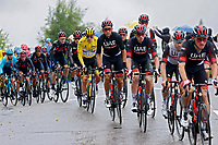 4th July 2021; Tignes, France;  POGACAR Tadej (SLO) of UAE TEAM EMIRATES and UAE TEAM during stage 9 of the 108th edition of the 2021 Tour de France cycling race, a stage of 144,9 kms between Cluses and Tignes on July 4