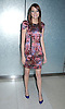 """Emma Stone in Philip Lim dress..posing for photographers at a special screening of """"The Bunny House"""" hosted by CosmoGirl, Columbia Pictures and the cast of the movie on August 18, 2008 at the Hearst Tower. ....Robin Platzer, Twin Images"""