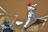 15 May 2012: Washington Nationals outfielder Bryce Harper hits his second career home run, a solo shot against the San Diego Padres at Nationals Park in Washington, DC. The Padres defeated the Nationals 6-1 to split their 2-game series. Mandatory Credit: Ed Wolfstein Photo