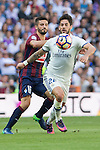 Eibar's Ruben Pena and Real Madrid's Isco Alarcon during the match of La Liga between Real Madrid and SD Eibar at Santiago Bernabeu Stadium in Madrid. October 02, 2016. (ALTERPHOTOS/Rodrigo Jimenez)