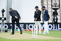 The coin falls and New Zealand win the toss during India vs New Zealand, ICC World Test Championship Final Cricket at The Hampshire Bowl on 19th June 2021