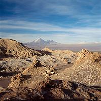 Mountains In The Atacama Desert, Valle De La Luna, San Pedro, Chile.