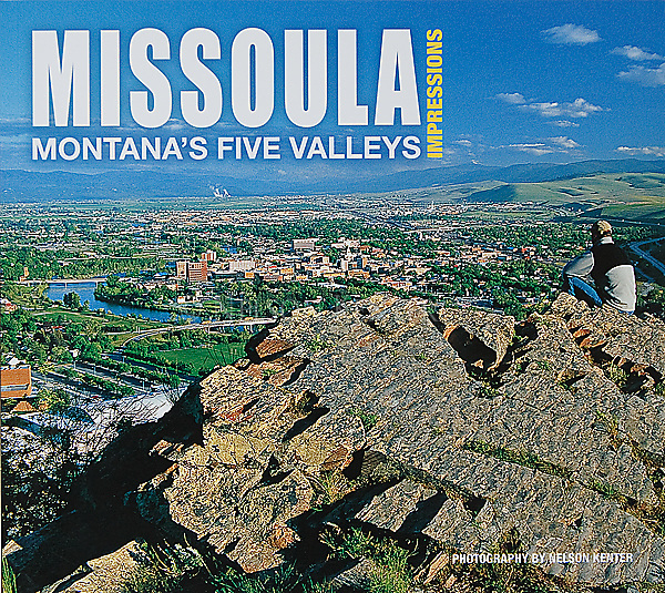 Nelson Kenter photo on the cover of a book with his photography on Missoula, Montana