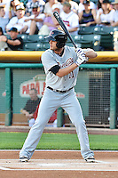 Nick Buss (11) of the Sacramento River Cats at bat against the Salt Lake Bees at Smith's Ballpark on June 6, 2014 in Salt Lake City, Utah.  (Stephen Smith/Four Seam Images)