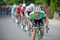 later stage winner Paul Martens (DEU/Belkin) leading the peloton over a nasty climb, towing all the favorites in his wake<br /> <br /> 2014 Belgium Tour<br /> (final) stage 5: Oreye - Oreye (179km)