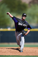 Colorado Rockies pitcher Shane Carle (37) during an Instructional League game against the Los Angeles Angels of Anaheim on October 6, 2016 at the Tempe Diablo Stadium Complex in Tempe, Arizona.  (Mike Janes/Four Seam Images)