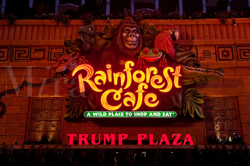 Rainforest Cafe at the Trump Plaza, Atlantic, City, NJ, New Jersey, USA