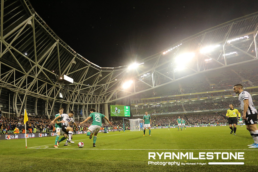 General View of the game during the Irish Daily Mail FAI Cup Final between Dundalk and Cork City, on Sunday 4th November 2018, at the Aviva Stadium, Dublin. Mandatory Credit: Michael P Ryan.