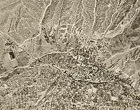 historical aerial photograph Santa Fe, New Mexico, 1951