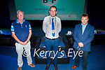 Attending the inaugural Ballybunion Arts Festival in the Tinteán Theatre in Ballybunion on Thursday, l to r: Padraig Hanrahan, Councillor Jimmy Moloney (Cathaoirleach of Kerry County Council) and Kevin O'Callaghan.