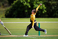 Beth Maloney bowls during the women's Hallyburton Johnstone Shield one-day cricket match between the Wellington Blaze and Central Hinds at Donnelly Park in Levin, New Zealand on Sunday, 6 December 2020. Photo: Dave Lintott / lintottphoto.co.nz