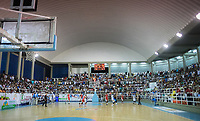 SAN ANDRES - COLOMBIA. 29-11-2018:Acción de juego entre los equipos  Islands Warriors de San Andrés Islas y Titanes durante la final de la Liga Profesional de Baloncesto 2018 de Colombia  quinto partido de la serie final entre Islands Warrios de San Andrés y Titanes de Barranquilla disputado en el coliseo Genny Bay de San Andrés Islas. Titanes ganaron como visitantes por marcador de 74-79 en estra tiempo. / Action game between Island Warriors and Titanes of Barranquilla during match Professional League of Basketball 2018 of Colombia after fifth match of the final serie between Islands Warriors of San Andres and Titanes of Barranquilla played at Genny Bay coliseum in San Andres island. Titanes won as a visitant by score of 74-79 in extra time. Photo: VizzorImage / John Hudson / Cont