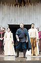 Macbeth by William Shakespeare. A Shakespeare's Globe Production directed by Eve Best. with Samantha Spiro as Lady Macbeth, Billy Boyd as Banquo, Joseph Millson as Macbeth  .Opens at the Shakespeare's Globe Theatre on 4/7/13  pic Geraint Lewis