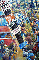 Berkeley CA, Mural 3, Telegraph & Haste.  Photo '78.