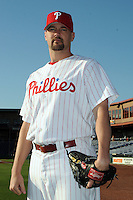 Feb 20, 2009; Clearwater, FL, USA; The Philadelphia Phillies pitcher Clay Condrey (55) during photoday at Bright House Field. Mandatory Credit: Tomasso De Rosa/ Four Seam Images