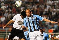 ATENÇÃO EDITOR: FOTO EMBARGADA PARA VEÍCULOS INTERNACIONAIS SÃO PAULO,SP,08 SETEMBRO 2012 - CAMPEONATO BRASILEIRO - CORINTHIANS x GREMIO -Marquinhos  jogador do Gremio durante partida Corinthians x Gremio válido pela 23º rodada do Campeonato Brasileiro no Estádio Paulo Machado de Carvalho (Pacaembu), na região oeste da capital paulista na noite deste sabado (08).(FOTO: ALE VIANNA -BRAZIL PHOTO PRESS)
