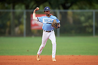 Jordan McCants (23) during the WWBA World Championship at Lee County Player Development Complex on October 10, 2020 in Fort Myers, Florida.  Jordan McCants, a resident of Cantonment, Florida who attends Catholic High School, is committed to Mississippi State.  (Mike Janes/Four Seam Images)