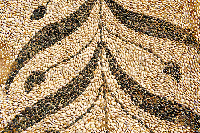Patterns in the cobble pavement, Ermoupolis, Syros Island [ ????? ] , Greek Cyclades Islands
