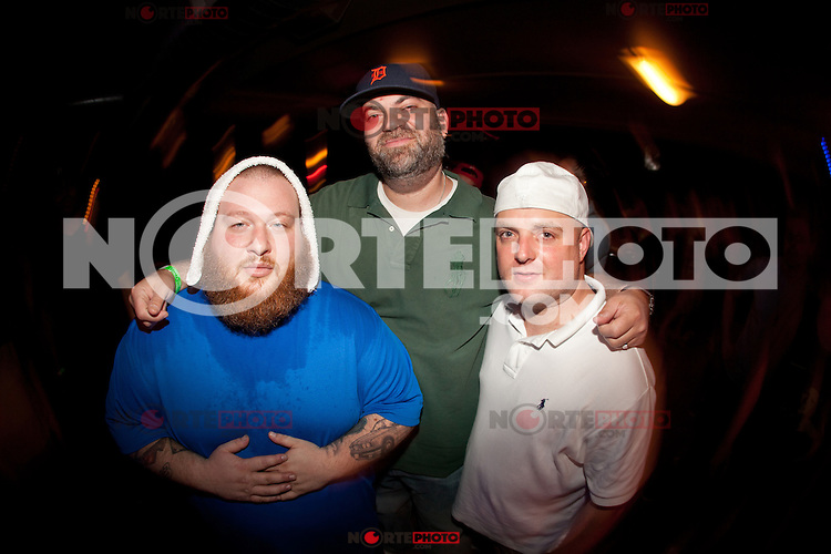Action Bronson with Paul Rosenberg, co founder of Shady Records and Eminem's music manager at the after party after their performance at the Pike Room in Pontiac, Michigan on May 25, 2012. © Joe Gall / MediaPunch Inc.