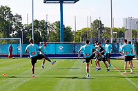 18th may 2020; Barcelona, Spain;  Players of RCD Espanyol attend a training session in Barcelona, Spain, May 18, 2020. The return of football to Spain moved a step closer on Monday as the teams in Spain s Liga Santander and Liga SmartBank first and second divisions are able to train in groups of up to 10 players.