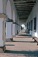 Oceanside: Mission San Luis Rey. Arcade. Photo '80.