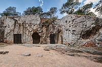 The Prison of Socrates near Acropolis, Greece