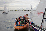Datchet Water Sailing Club group of boys learning to sail with instructor. 2007