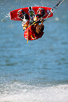 Kite boarding in the Columbia River, Columbia River Gorge National Scenic Area, Lake Hood, Oregon