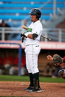 Jamestown Jammers infielder Rony Peralta #4 during the second game of a doubleheader against the State College Spikes at Russell Diethrick Park on August 30, 2012 in Jamestown, New York.  Jamestown defeated State College 2-1.  (Mike Janes/Four Seam Images)