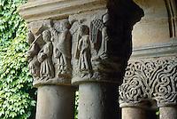 Spanien, Kantabrien, Santillana del Mar, Kreuzgang in der Stiftskirche