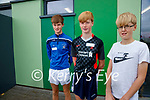 The O'Flaherty's from Ardfert, Tom (15), Eoin (14), Darragh (12)  pictured after getting their vaccination in Tralee on Tuesday