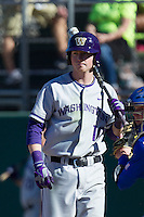 Washington Huskies outfielder Brian Wolfe (10) during the NCAA season opening baseball game against the Air Force Falcons on February 14, 2014 at Bobcat Ballpark in San Marcos, Texas. Air Force defeated Washington 14-9. (Andrew Woolley/Four Seam Images)
