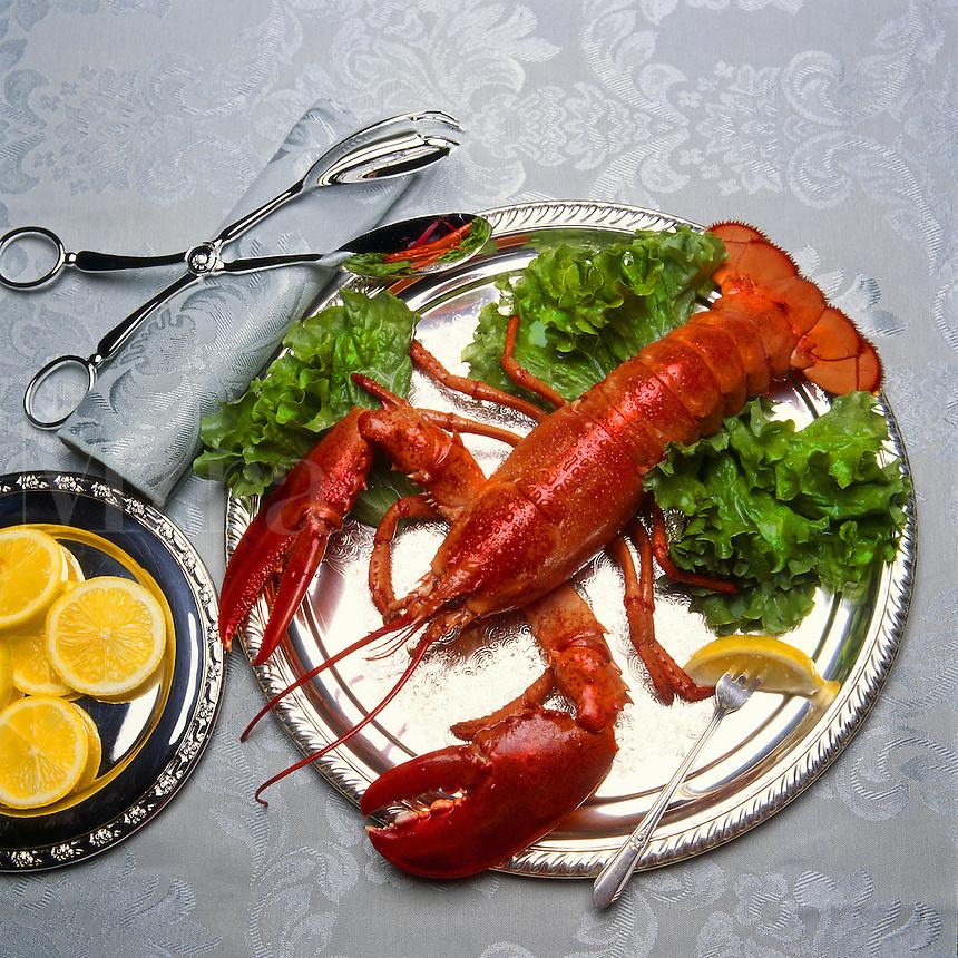 Lobster prepared for elegant dinner.