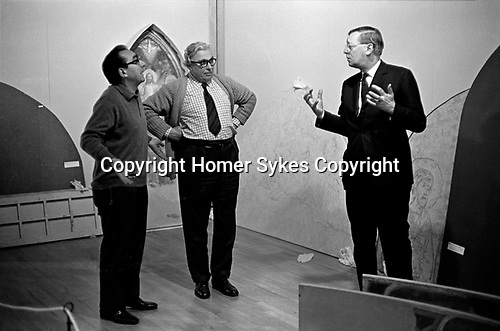 Hanging the Frescoes from Florence Arts Council Exhibition Hayward Gallery London 1969<br /> <br /> If you know the names of any of these three people please let me know. Thanks you.
