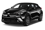 2017 Toyota C-HR C-Show 5 Door SUV Angular Front stock photos of front three quarter view