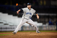 Lake County Captains relief pitcher Ben Krauth (24) delivers a pitch during a game against the Quad Cities River Bandits on May 6, 2017 at Modern Woodmen Park in Davenport, Iowa.  Lake County defeated Quad Cities 13-3.  (Mike Janes/Four Seam Images)